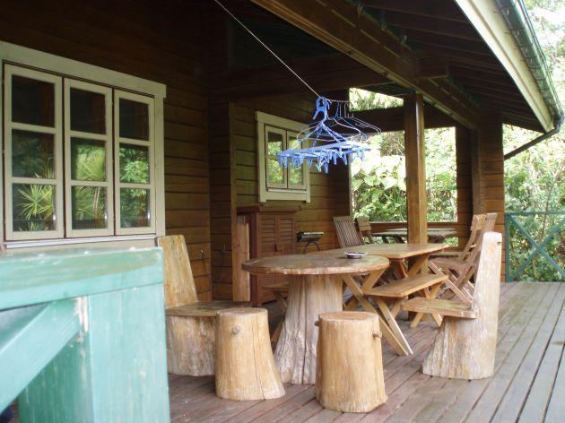 久米島のログハウス